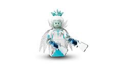 Lego ice queen series 16 parts dress torso head hair tiara cape collar sword