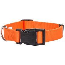 "Team RealTree Blaze Orange Dog Collar NEW 3/4"" 14/20"" Quick snap Adjustable"