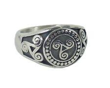 Ring Fingerring Edelstahl Triskele Siegelring Odin Biker Rocker