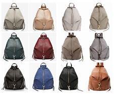 NWT Rebecca Minkoff Julian Large Leather Backpack Black Navy Grey Taupe Mink Doe