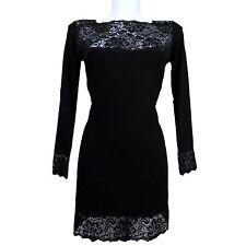 Vestito abito in pizzo nero modal S/M - L/ XL