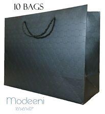 Extra Large Gift Bags Black Paper with Handles 16x12x6 Luxury Birthday Merchandi