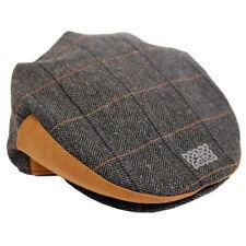 75bad98dd026e Mens Flat Cap Grey Tweed Celtic Knot Design