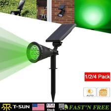 Solar Powered LED Spot Light LED Garden Lawn Lamp Outdoor Landscape Green US