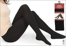 LADIES Plain Black Color Térmica Gruesa Medias De Mujer Tallas S M L Xl Y Xxl