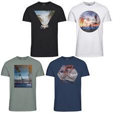Jack & JONES Originals Camiseta para hombre cuello redondo informal 100% Algodón