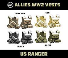 Brickarms WW2 US RANGER VEST for  Minifigures -Pick your Color!-