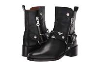 New in Box Womens Frye Modern Harness Arrowhead Boots Black MSRP $ 648 STUNNING!