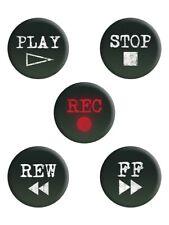 Anstecker-Paket Retro Cassette Buttons
