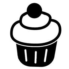 Sticker Cuisine Gateau Cupcake Glaçage Simple Boule dessert (CUISINE074)