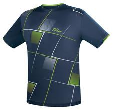 TIBHAR T-SHIRT CHECK - navy  Tischtennis Trikot Badminton Tischtennis T-Shirt