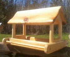 Extra large, cedar wood fly through platform bird/squirrel feeder,The Birds Nest