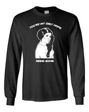 552 Only Hope Long Sleeve Shirt carrie tribute fisher star geek nerd jedi wars