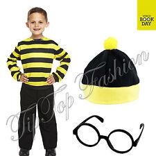 NEUF pour garçons Noir & jaune à Rayures Pull odlaw méchant déguisement