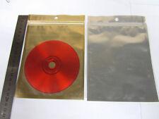 "50/200/600 Gold/Silver Aluminum Foil Mylar 5.5x7"" Ziplock Bag/Clear Front GA-2"