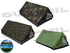 Tenda militare modello canadese 2 posti campeggio, bosco verde mimetica
