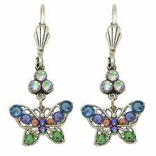 Earrings with Swarovski Crystal Es3176 Anne Koplik Small Openwork Blue Butterfly