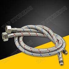 M10 x1/2 BSP Kitchen/ Basin Monobloc Mixer Tap Connectors Flexi Hose Pipes Tails
