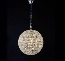 Modern Full Crystal Ball globe pendant Lamp Bar Ceiling Lighting Hanging Light