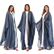Women Open Front Cardigan Muslim Long Maxi Dress Abaya Kimono Loose Kaftan Robes