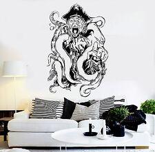 Vinyl Wall Decal Pirate Octopus Tentacles Kraken Ocean Creature Stickers ig3663