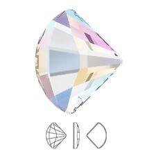 Genuine Swarovski Fan (2714) AB Crystal ( No Hotfix ) Flat back Shell Rhinestone