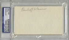 Burleigh Grimes SIGNED 3x5 Index Card Pirates (DEC) PSA/DNA AUTOGRAPHED