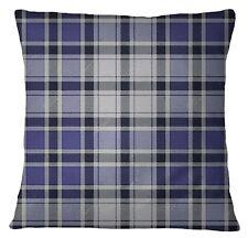 S4Sassy Indian Decor Check Purple Throw Sofa Pillow Cover Square Pillow Case