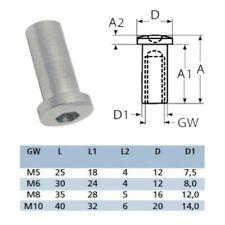 1 2x 5x 10x Hülsenmutter Linsenkopf Innensechskannt Linsenkopfhülse A4 Edelstahl