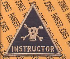 US Army Armor School Tank TD INSTRUCTOR pocket patch