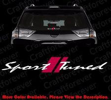 Sport Tuned (2-Layer Vinyl) Car Window Die Cut Decal/Sticker Vvt-i Racing Rc110