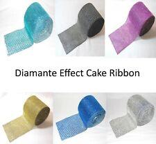 Diamante Effect Ribbon - Various Widths & Lengths - Cake Decoration Ribbon