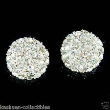 "5/8"" 16mm w Swarovski Crystal Half Ball Simple Bridal Wedding Stud Post Earrings"