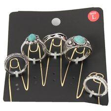 Ringe 5 er Set Midi Ring Fingerspitzenring Knuckle India Knöchel Boho