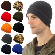Unisex Men Women Winter Warm Solid Outdoor Hat Fleece Ski Beanie Skull Cap
