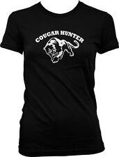 Cougar Hunter - Loves Older Woman  MILF Hot Moms Funny Juniors T-shirt