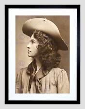 Fotografia Sharp Tiratore WILD WEST BUFFALO BILL Annie Oakley ART PRINT b12x9979