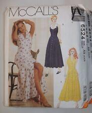 McCall's 6524 Sewing Pattern Midi-Length Fit/Flare Halter Dress U-Pick Size UC