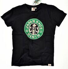 JAPAN RAGS  ●● schwarzes T-Shirt mit Vintage-Print   div. Größen  Neu m.Et.