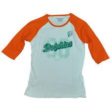 NFL Reebok Miami Dolphins Pinne Junior Girls Invecchiato Medio Camicia Maniche