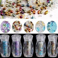 3D Nail Art  Micro Caviar Beads Tiny Crystal Rhinestones Microbead Glitter Decor