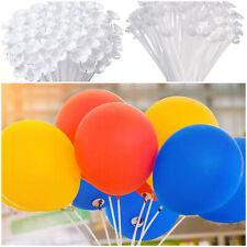 BALOON STICKS White Balloon Sticks with White CUPS HOLDER