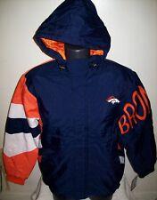 DENVER BRONCOS NFL Starter KNOCKOUT Hooded Winter Jacket S M L XL 2X BLUE ORANGE