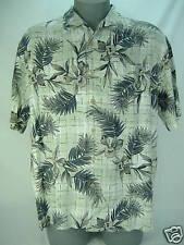 """Mens XL Quiksilver""""Costa Azul""""Gren Rayon Dress Shirt"""