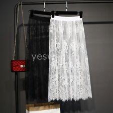 Ladies Lace Half Slip,Skirt Slip Extender A Line Elastic Waist Midi Length Dress