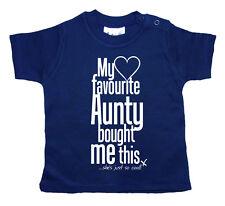 Dirty Fingers Camiseta para bebé My Favorito Aunty compró ME THIS Tía Sobrino