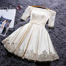 NEW Abendkleider Cocktailkleid Ballkleider Brautjungfern Kurz Bestickt Kleider