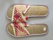 Women's Environmental Shoes Unique Straw Shoes,Sandals&Slippers Beach Shoes