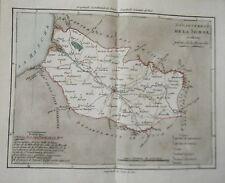 CARTE GRAVEE ET REHAUSSEE A L' AQUARELLE PAR BRION DE LA TOUR  1792 LA SOMME