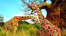 156792 Wild animal Giraffe Wall Print Poster CA
